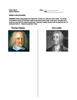 Scientific Revolution - Hobbes & Locke Conversation Homework