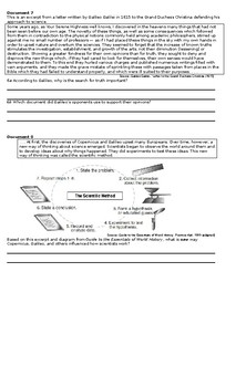 Scientific Revolution Document Based Questions and Multiple Choice