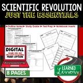 Scientific Revolution Outline Notes, Bullet Notes, Unit Review, Test Prep