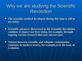 Scientific Revolution PowerPoint Presentation.  History 101