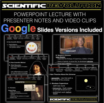 Scientific Revolution PowerPoint with Video Clips and Presenter Notes
