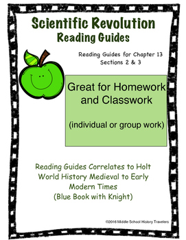 Scientific Revolution Reading Guides for Holt Textbook