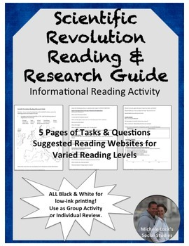 Scientific Revolution Reading & Research Guide - Informational Text