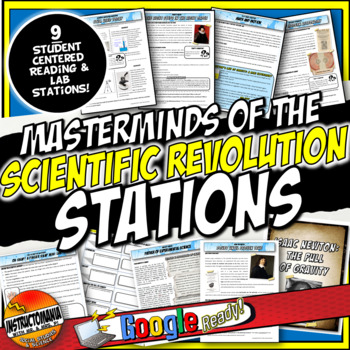 Scientific Revolution Stations Activity with Graphic Organizer & Mini Labs