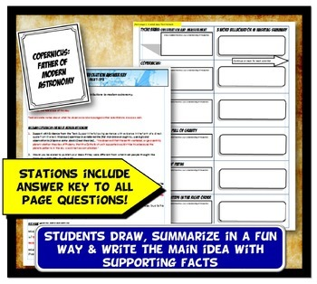 Scientific Revolution Stations Activity with Graphic Organizer & Mini Labs