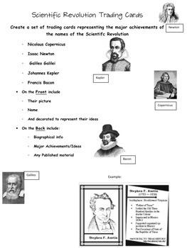 Scientific Revolution Trading Cards