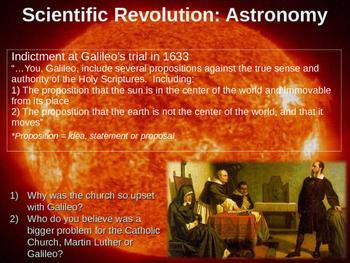 Scientific Revolution Unit (PART 2 ASTRONOMERS) textual, visual, engaging