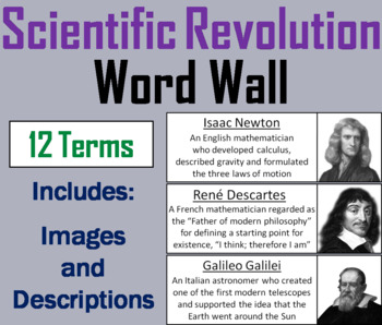 Scientific Revolution Word Wall Cards