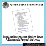 Scientific Revolution in Modern Times Research Project Activity