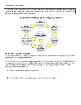Scientific Revolution worksheet by Allison Bertels ...