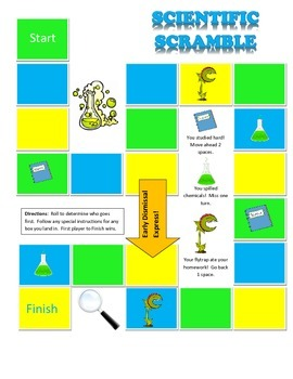 Scientific Scramble Gameboard