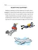 Scientific Summer Writing Activity