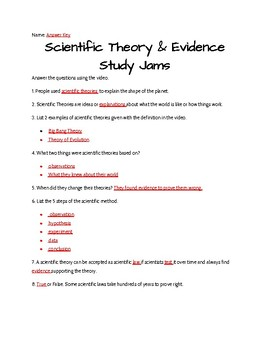 Scientific Theory and Evidence Study Jams