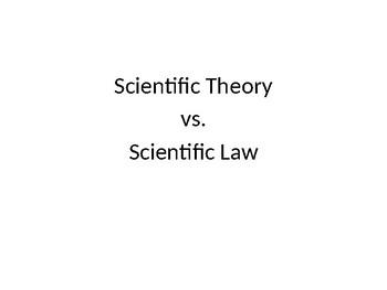 Scientific Theory vs. Scientific Law