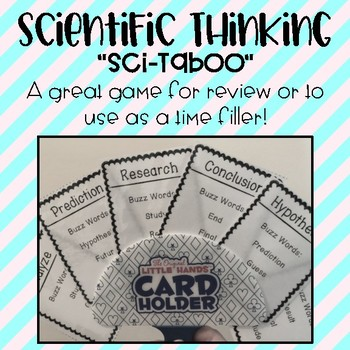Scientific Method Vocabulary Taboo