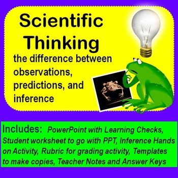 Scientific Thinking, difference between observing, predicting, and inferring!