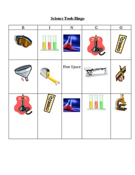 Scientific Tools Bingo