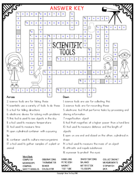 Scientific Tools Comprehension Crossword