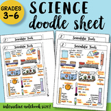 Scientific Tools Doodle Notes Sheet - So EASY to Use! PPT included!