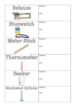 Scientific Tools Flashcards (6 tools)