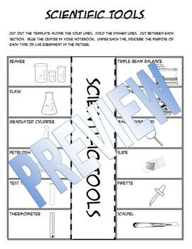 Scientific Tools Interactive Notes & Match Game