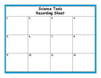 Scientific Tools Task Cards