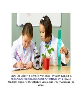 Scientific Variables Video Quiz Activity