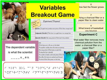 Scientific Variables Breakout Game