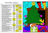 Scientific Variables Color By Number Christmas Activity