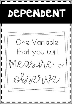Scientific Variables Posters