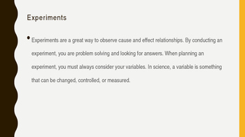 Scientific Variables PowerPoint