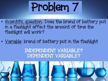 Scientific Variables PowerPoint (Independent Variables vs. Dependent Variables)