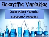 Scientific Variables PowerPoint (Independent Variables vs.