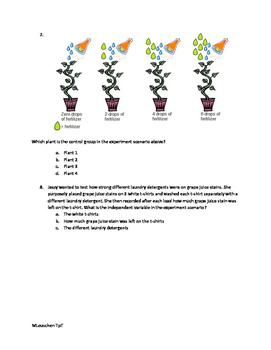 Scientific Variables Quiz