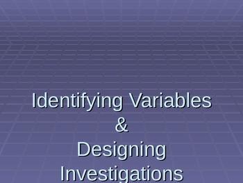 Scientific Variables and Scientific Method