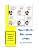 Scientific Word Roots for Teaching Vocabulary