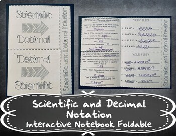 Scientific and Decimal Notation INB TEKS 8.2C