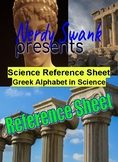 Scientific and Mathematical Greek Alphabet Reference Sheet