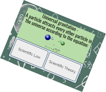 Scientific law or theory? - DIGITAL TASK CARDS
