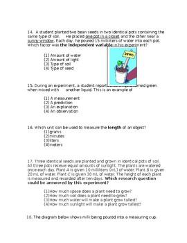 Scientific method, lab safety, measurements unit test