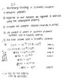 Scientific notation notes