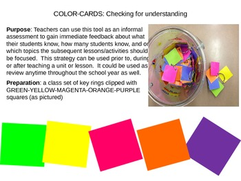 Scientifiv Revolution Color-card Assessment