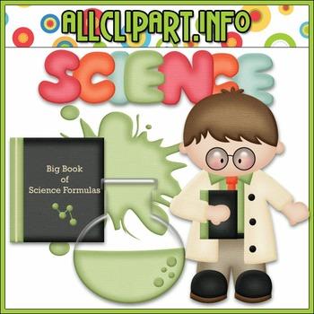 BUNDLED SET - Scientist 1 Clip Art & Digital Stamp Bundle