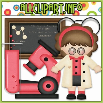 BUNDLED SET - Scientist 2 Clip Art & Digital Stamp Bundle