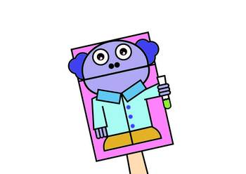 Scientist Bag Hand Puppet (Occupations)