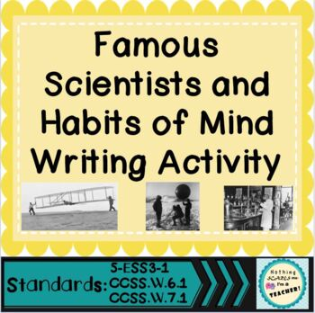 Scientists Biographies: Traits, Close Reading and Writing Activity