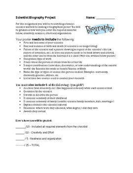 Scientist Biography Assignment