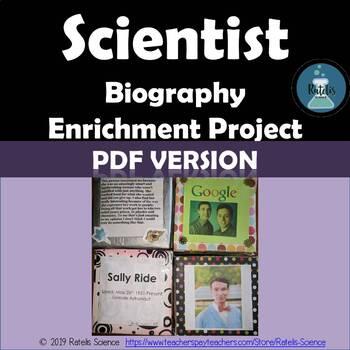 Enrichment Project: Scientist Biography  (PDF)
