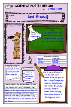 Scientist Biography Poster