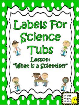 Scientist Box Labels (FREEBIE)